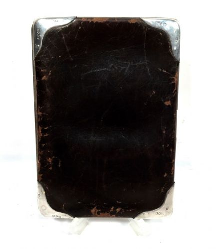 Edwardian Brown Leather & Silver Wallet / Purse / London 1902 / Antique Fashion